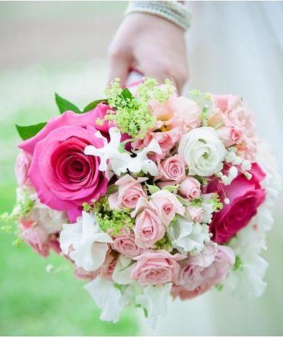 Brautstrauss-pink-rosa