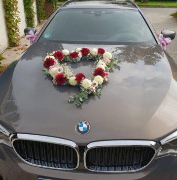 Hochzeit-Alling-Autoschmuck-BMW