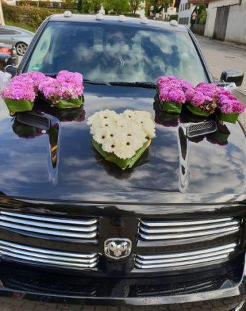 Hochzeit-Gilching-Autoschmuck-Buchstaben-SRAM